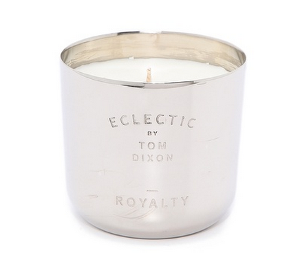 This Tom Dixon Eclectic scented candle captures the essence of tea time: a pot of Earl Grey, scones, strawberry jam & a ride home in tatty leather seats — more gifts for her on @SavvyHome