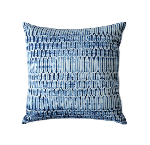 Indigo Shibori Pillow • via @SavvyHome