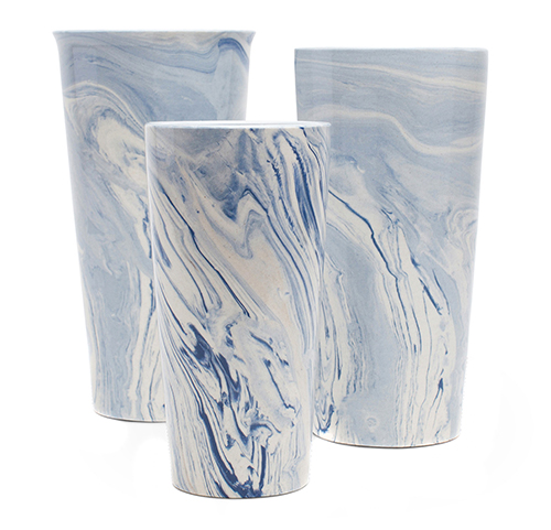 Blue Swirl Taper Vases • on the @SavvyHome Shop