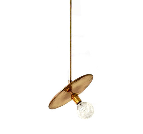 Workstead Brass Pendant Lamp • via @SavvyHome