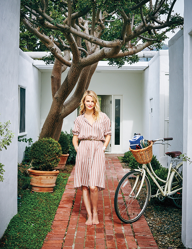Kelly Sawyer Patricof at home in Malibu