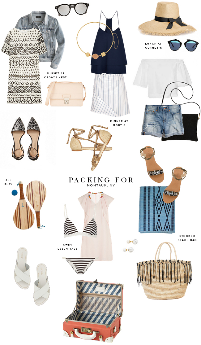 Packing for Montauk, NY • on @SavvyHome